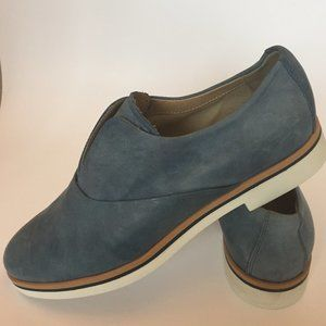 GEOX Denim Leather Loafers/ Flat Shoes Sz. 6